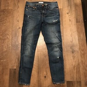 """Madewell 9"""" High Riser Jeans, Destroyed, Size 29"""